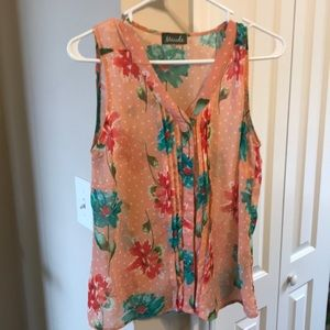 Maude Floral Sheer Sleeveless blouse